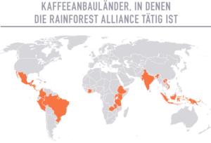 Rainforest Alliance Kaffeeanbauländer