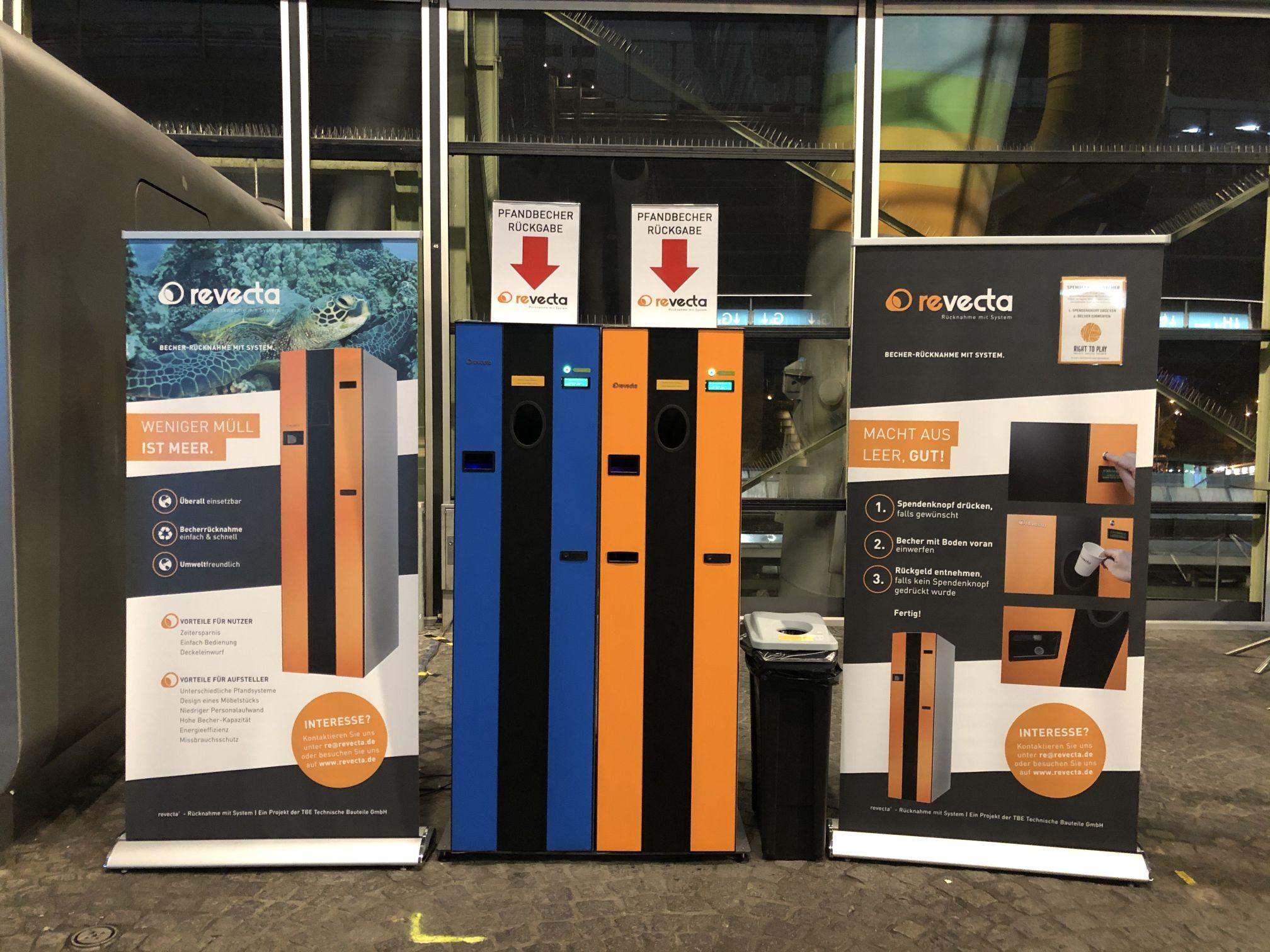Hersteller Becherrücknahmeautomaten für Konzerte